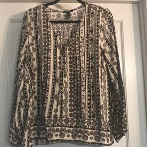 L/S paisley printed blouse